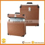 Leather Record Case Carrier for 30+ Albums,300LP Vinyl 7 record flight box,DJ Flight case record box