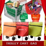 Factory directly supply supermarket grocery grab shopping bag , trolley shopping bag cart bag wholesale                                                                         Quality Choice