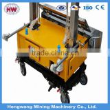 Wall plastering machine for building use