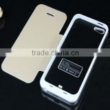 For IPhone5 Power Case ,Aluminum Flip Cover External Backup Battery Power Case for IPhone5 5s