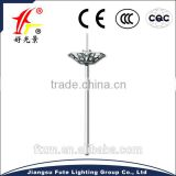 Excellent performance & cost-effective 15M~35M airport high mast light with high pressure sodium lamp or LED lamp