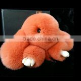 Decorative Plush Animal Toy as Gift Cute Cartoon Soft Rabbit Doll in Bag, Cellphone or Key