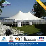 Durable and long life span pole tents for sale cover double Waterproof PVC fabric sale in south africa
