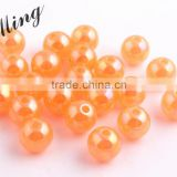 Orange Color New 2016 6MM to 20MM Stock Round Acrylic Jelly AB Beads for Chunky Necklace Wholesales Jewelry Paypal accept