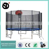 16ft biggest round trampoline bungee pad with enclosure