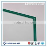 Shandong Yaohua hot sale swimming pool fence panels 10.38mm clear double laminated glass