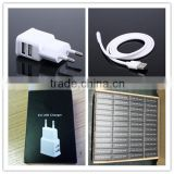 OEM black white gold logo printing paper box with micro cable 5v 1.5a eu universal power bank charger