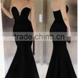 black deep plunging long tube mermaid sexy prom dress