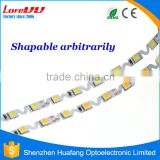 2016 Newest IP65 Waterproof S shape led strip super thin Silicon DC12V slim led flexible rope light factory
