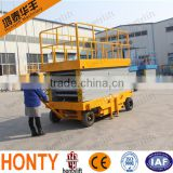 14M high quality Battery hydraulic auto lift scissor car lift with walking aids equipment