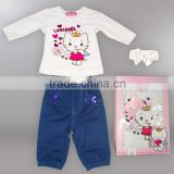 baby clothes baby clothes wholesale price Angel Cat baby gift set suit