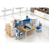 Executive Office Desk with 4 Partitions Division Office Furniture Table Designs 4 People Office Desk