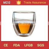 Glass material drinkware egg shaped double glass cup for tea                                                                         Quality Choice