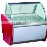 20plates sorvete display showcase/icecream display freezer/ice cream display refrigerator