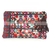 Gypsy Banjara Clutch Vintage Banjara Purse Embroidered Mirror Work Wallet