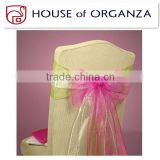 Beautiful Organza Chair Sash for Wedding Decoration