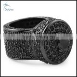 wholesale black bling bling cluster hip hop ring