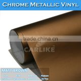 Application Dry stick and heat gun Air Bubble Free Matt Chrome Ice sticker for car parking 1.52x20m
