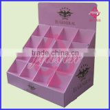 Folding Cosmetic PDQ Display Box, Counter Display Stand tray