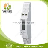 ISO 9001 Factory Single Phase Electronic Din Rail Energy Meter, LCD Display Kilowatt kWh Energy Meter / Power Meter