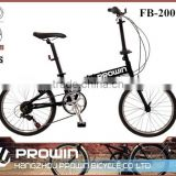 20 inch lightweight folding bicycle with folding bicycle handlebars (PW-FD20016)