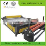 1325 laser machines 100w laser tube textile fabric leather cutting fabric roll cutting machine