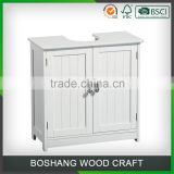Under Sink Storage Unit White Wood Bathroom Cabinet Floor Vanity                                                                         Quality Choice