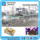 Advanced deposit type chocolate candy bar production line