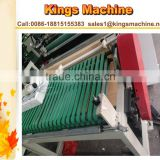 China Packing Machinery Plastic Machine PVC PE Arc Sealing Bag Making Machine (double lines)(Kings brand)