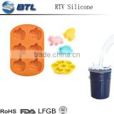 Fast curing agent RTV2 Liquid form mold-making Diamond mould plastic silicone rubber