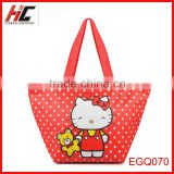 Yiwu wholesale cheap hot selling hello kitty cooler bag cute handle large capacity ice pack