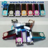 2014 New gift Clip metal mini clip mp3 player with LED torch with good quality loud speaker