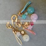 Camellia Acrylic star Tassels Keychain Bag Pendant Car Ornaments Long Key Chain Buckle Key Ring