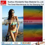 Hot sale!Sexy lady's rainbow color hot stamping foil for fabric&textile&leather
