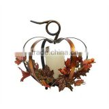 Autumn harvest bettery operated pumpkin decoration LED candle lantern