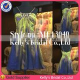 New beautiful sexy color combination short bridesmaid dress made in China