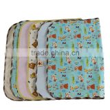 Bamboo printed cotton flannel fleece baby urine changing pad with TPU laminated