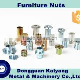 Furniture Fastener Nut with Zinc plated (Blue , white/bright , yellow zinc finish ): M4, M5, M6, M8, M10, M12