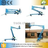 160KG CE approved hydraulic articulating man lift / Articulated Trailer Spider Lift Platform