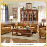 Rustic Country Home and Hotel Solid Wood Living Room Set Furniture including sofa set, Tv stand, coffee tables