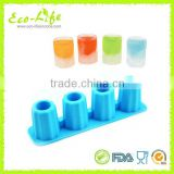 Food Grade 4 cups Silicone Ice Shot Glass Mold, Silicone Ice Cube Tray, Jelly Tray ,Chocolate Mold