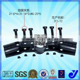 JYJ-12|Black butt fasteners rotating pipe fittings |Metal clamp for ABS pipe|Black round tube clamp