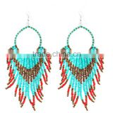 Green stone cheap jewelry new summer multilayer bead drop earrings x87
