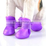 Pet Apparel & Accessories rubber waterproof dog shoes for winter