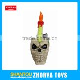 Zhorya scary festival toy skull candle emulational Halloween candle toy included batteries hanging card packing candle toy