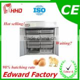 HHD Best Price and High Quality 2016 automatic Price of Chicken Egg Hatching Machine for Sale in India with CE approved for sale