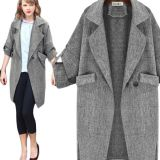 Fashion Women Autumn Gray Coat