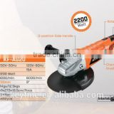 230mm /180MM 2200W Motor with soft start rotary handle ANGLE GRINDER