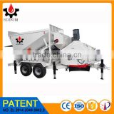 high efficient national patent product concrete machine mobile concrete batching plant with cement silo for sale in china