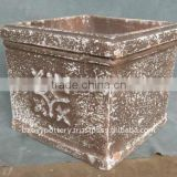 Antique Finish Terracotta Ceramic Planters - washed Terracotta pot